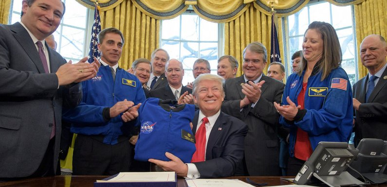 Donald Trump Signs Order To Send Astronauts To The Moon And Mars