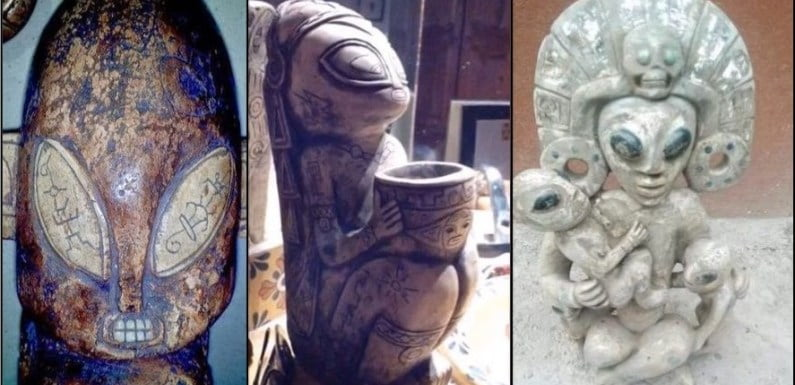 Ancient Aliens: Creepy Alien-Like Artifacts Found In A Mexican Cave