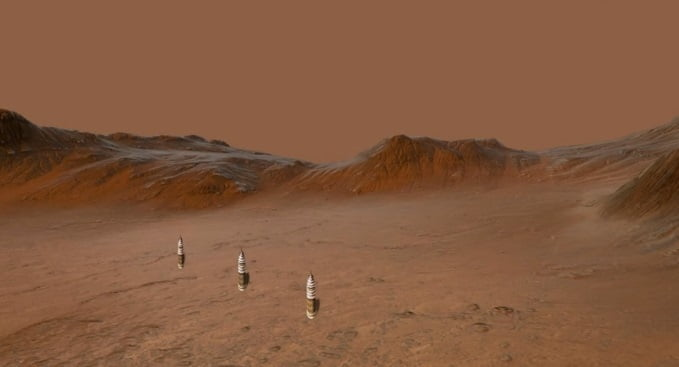Life On Mars? Three Artificial Towers Found In A Row On The Red Planet