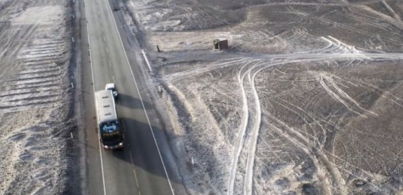 Irreparable Damage As Truck Driver Drives Across 2000-Year-Old Nazca Lines