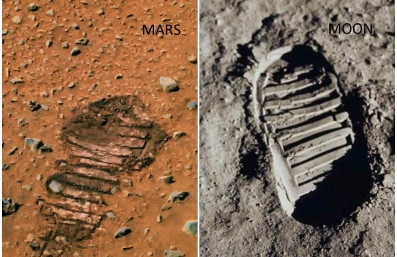 Shocking Footprint Found On Mars Shows Astronauts Visited This Planet