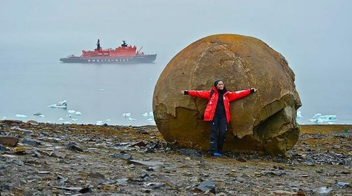 Enormous Perfectly Shaped Spherical Rocks Found On A Remote Arctic Island